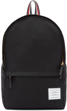 Thom Browne Black Nylon Backpack