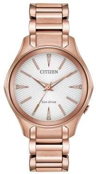 Citizen Modena Womens Watch EM0593-56A Pink Gold-toned 36mm Stainless Steel