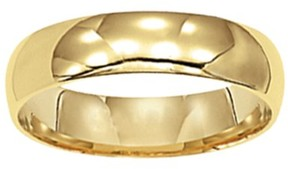 Keepsake 14kt Yellow Gold Plain Wedding Band, 5mm