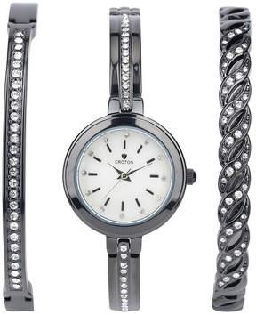 Croton N/A Mens Gold Tone Bracelet Watch-Cn307576ylmp