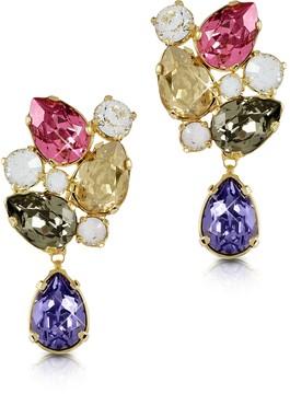 Forzieri Multicolor Crystal Earrings