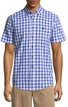 U.S. Polo Assn. USPA Short Sleeve Checked Button-Front Shirt