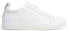 Sophia Webster Bibi Butterfly Embroidered Leather Sneakers - White