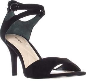 Alfani A35 Ginnii Ankle Strap Sandals, Black.
