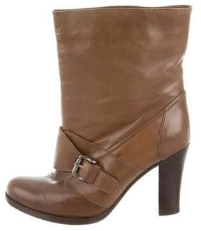 Marni Leather Semi Pointed-Toe Booties
