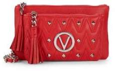 Mario Valentino Small Quilted Leather Crossbody Bag