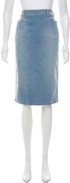 Christian Dior Denim Knee-Length Skirt