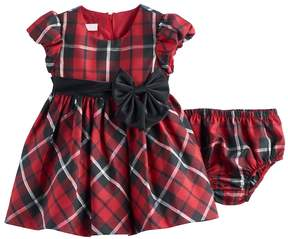 Bonnie Jean Baby Girl Red Plaid Dress