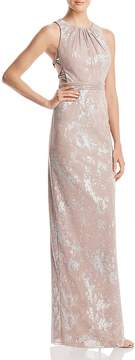 Adrianna Papell Metallic Halter Gown - 100% Exclusive