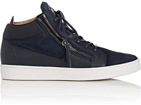 Giuseppe Zanotti Men's Double-Zip Mid-Top Sneakers