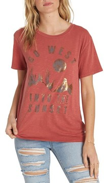 Billabong Women's Sunset In The West Graphic Tee