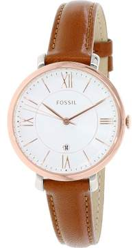 Fossil Women's ES3842 Jacqueline Leather Watch, 36mm