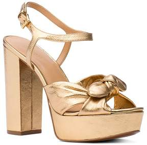 Michael Kors MICHAEL Women's Pippa Leather Platform High-Heel Sandals