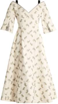 Erdem Karol Ottoman cotton-blend dress