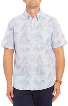 Daniel Cremieux Dot Print Short-Sleeve Woven Shirt