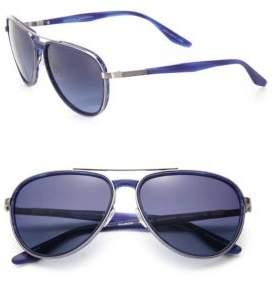 Barton Perreira Gazarri 60MM Polarized Aviator Sunglasses
