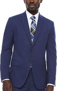 Jf J.Ferrar JF Blue Micro Check Jacket-Slim