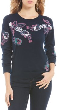 Daniel Cremieux Josie Floral Knit Top