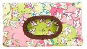 Emilio Pucci Floral Fold-Over Canvas Clutch