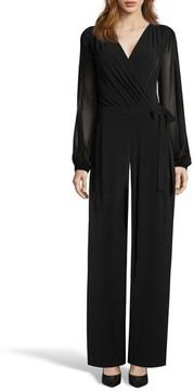 ECI Women's Sheer Sleeve Jumpsuit