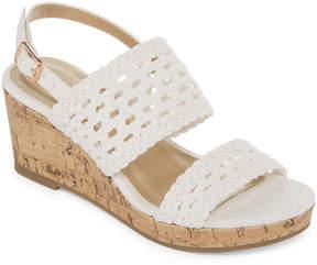 Arizona Portia Girls Wedge Sandals - Little Kids/Big Kids