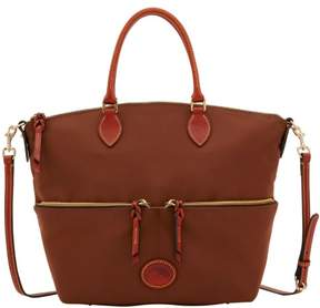 Dooney & Bourke Nylon Large Pocket Satchel - BROWN - STYLE