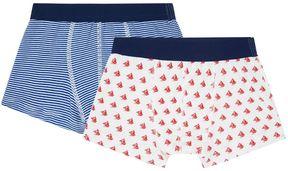 Petit Bateau Printed Boxer Shorts (Set of 2)