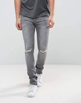 Loyalty And Faith Manchester Skinny Jean with Unrolled Hem in Gray