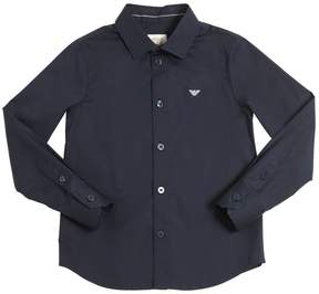 Armani Junior Stretch Cotton Poplin Shirt
