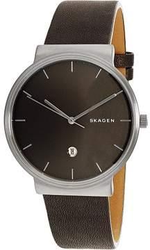 Skagen Men's Ancher SKW6320 Grey Leather Quartz Fashion Watch