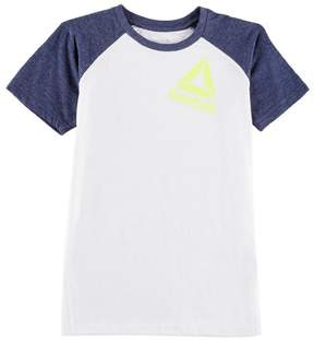 Reebok Big Boys Neon Logo Raglan T-Shirt