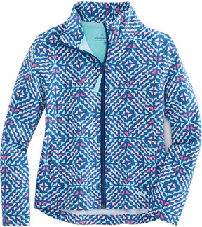 Vineyard Vines Girls Whale Tail Square Full-Zip