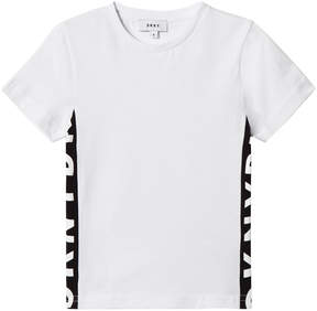 DKNY White Side Branded T-Shirt