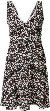 DSQUARED2 tulle trim floral print dress