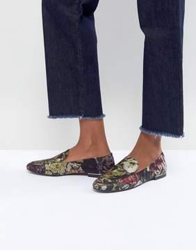 MANGO Floral Jacquard Loafer