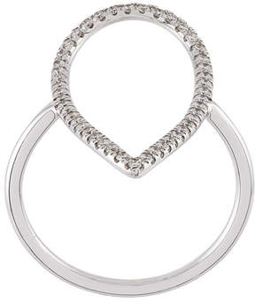Diane Kordas diamond pear shaped outline ring