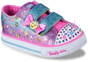 Skechers Twinkle Toes Shuffles Giggle Days Toddler Light-Up Sneaker - Girl's