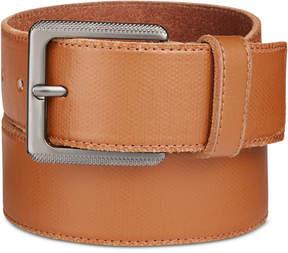 Calvin Klein Men's Canvas-Printed Leather Belt
