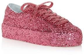 Chiara Ferragni Glitter Lace Up Platform Sneakers