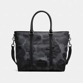 COACH Coach New YorkCoach Metropolitan Tote With Wild Beast Print - BLACK ANTIQUE NICKEL/CHARCOAL - STYLE
