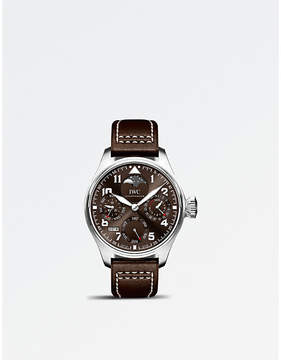 IWC IW503801 Big Pilot stainless steel leather strap automatic watch