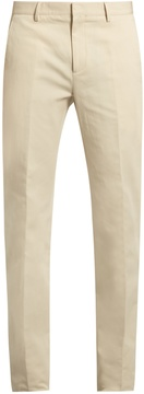 Calvin Klein Collection Exact slim-fit cotton and linen-blend trousers