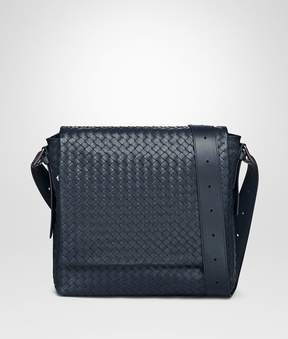 Bottega Veneta Denim Intrecciato Calf Messenger Bag