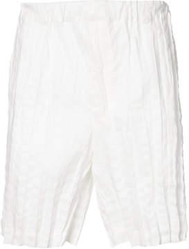 Issey Miyake crinkle effect shorts