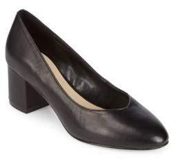 Saks Fifth Avenue Amaya Block Heel Leather Pumps
