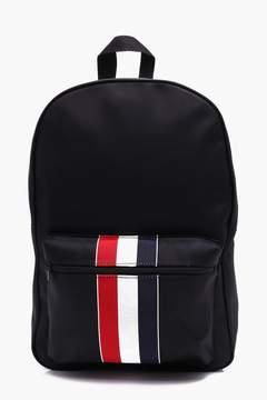 boohoo Black Nylon Contrast Stripe Backpack