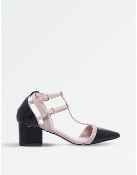 Miss KG Averie studded patent court shoes