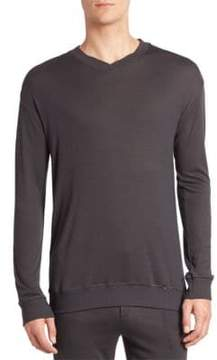 Hanro Lorenzo Solid Ribbed Pullover