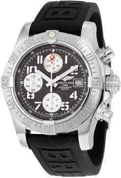 Breitling Avenger II Chronograph Gray Dial Black Rubber Men's Watch A1338111/F564BKPD3