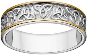 Celtic Kohl's Sterling Silver Two Tone Trinity Knot Wedding Band
